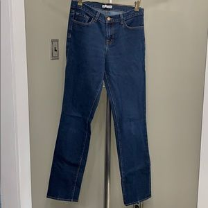 J Brand straight leg high rise jeans in Ink wash